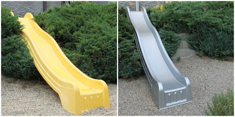 Slide before and after