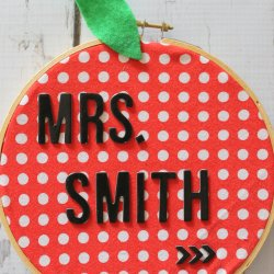 Name Badge Apple Teacher Gift
