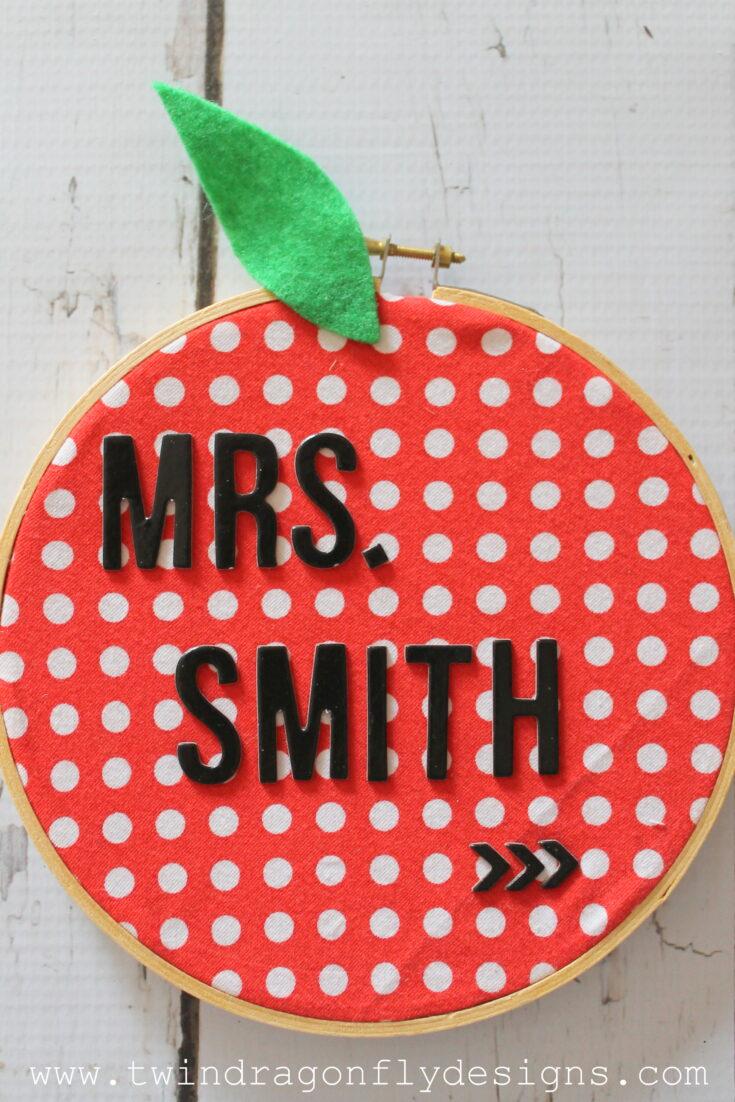 Name Badge Apple Teacher Gift