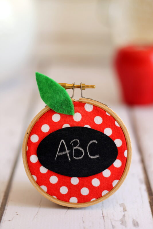 Apple Chalkboard Teacher Gift