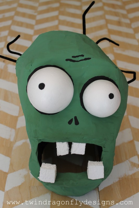 Plants vs Zombies Chomper Zombie Costume DIY Tutorial-015
