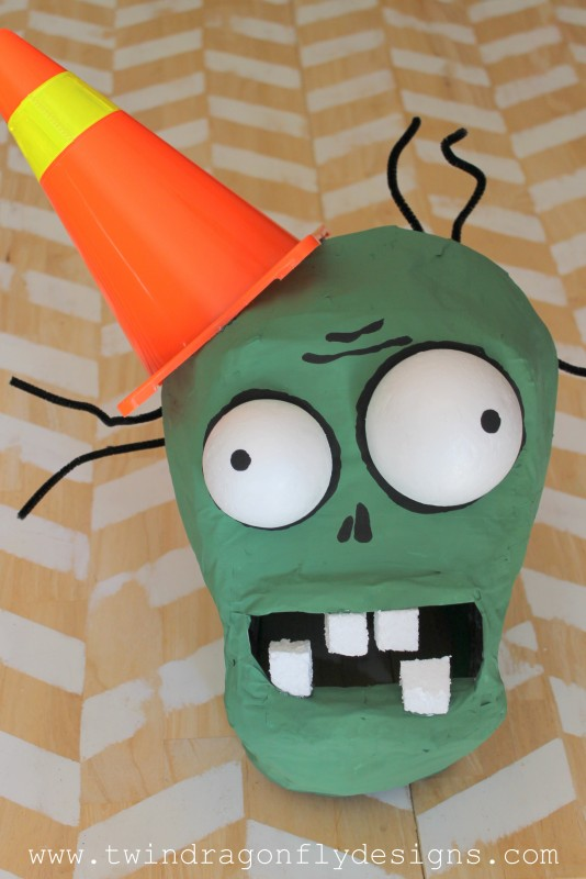 Plants vs Zombies Chomper Zombie Costume DIY Tutorial-017