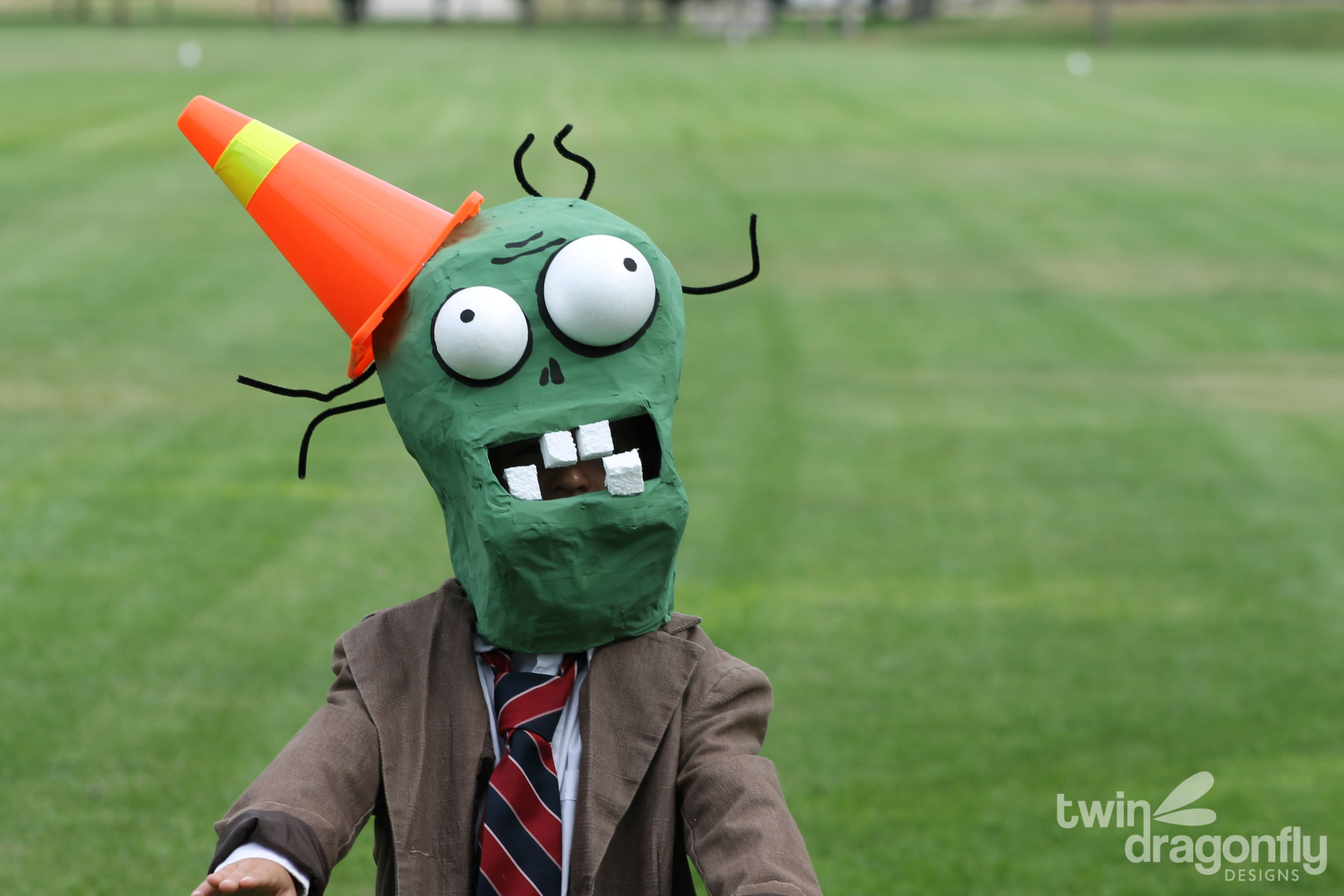 Plants vs Zombies Costume - Cone Head Zombie