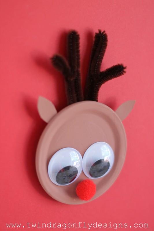 Reindeer Snap Lid Magnet-005