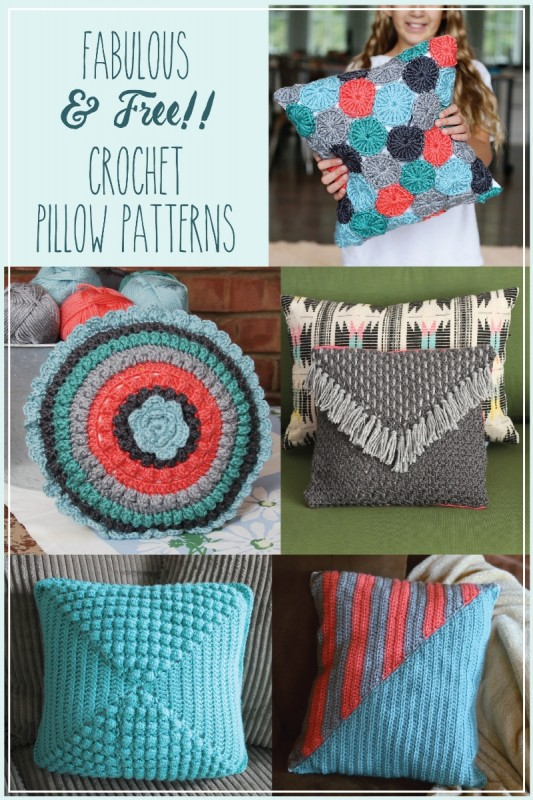 5 Fabulous and Free Crochet Pillow Patterns
