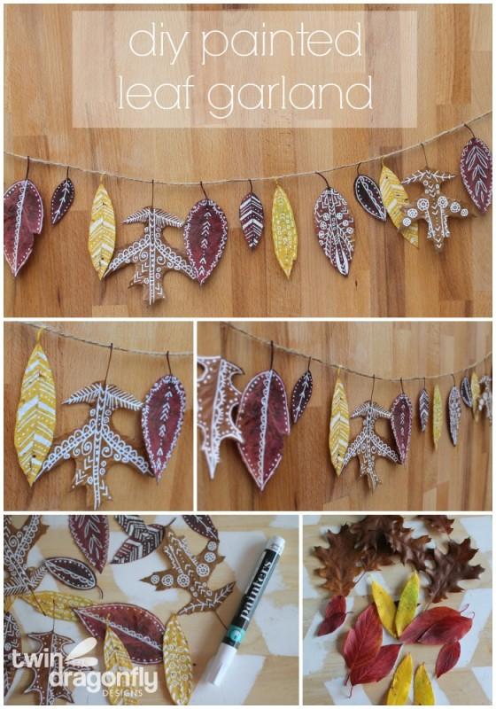 Painted Leaf Garland Craft