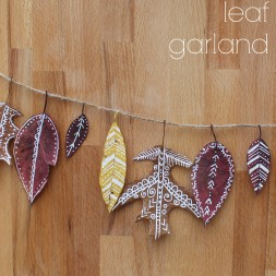 Painted Leaf Garland DIY