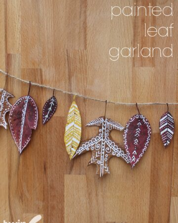 Painted Leaf Garland