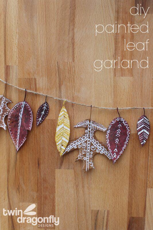 Painted Leaf Garland DIY