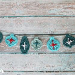 Crochet Christmas Ornament Garland