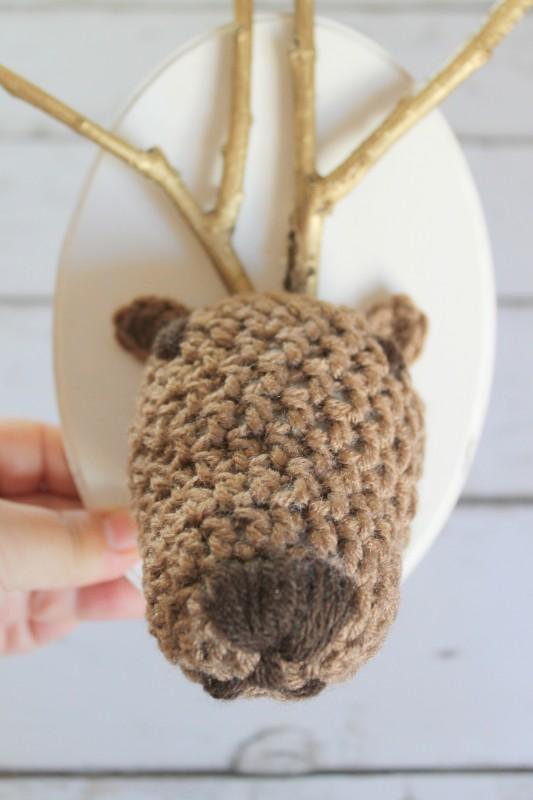 Crochet Reindeer Head-005