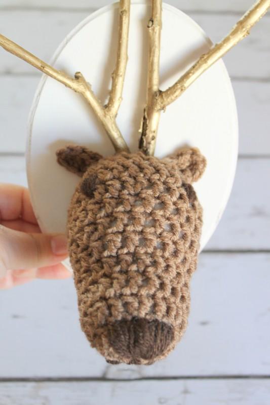 Crochet Reindeer Head-006