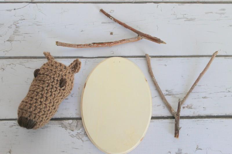 Crochet Reindeer Head