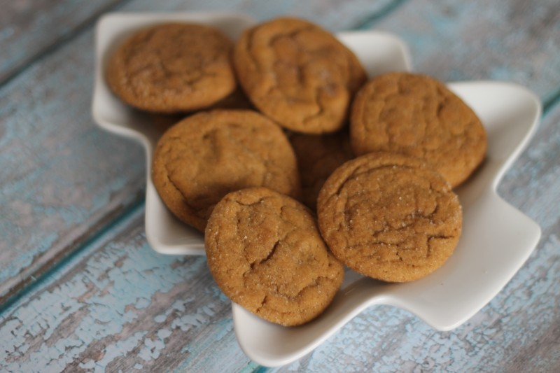 Chewy Ginger Snap Cookies and Christmas with Netflix