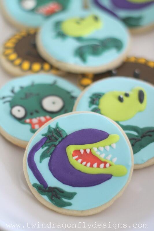 Plants vs Zombies Sugar Cookies