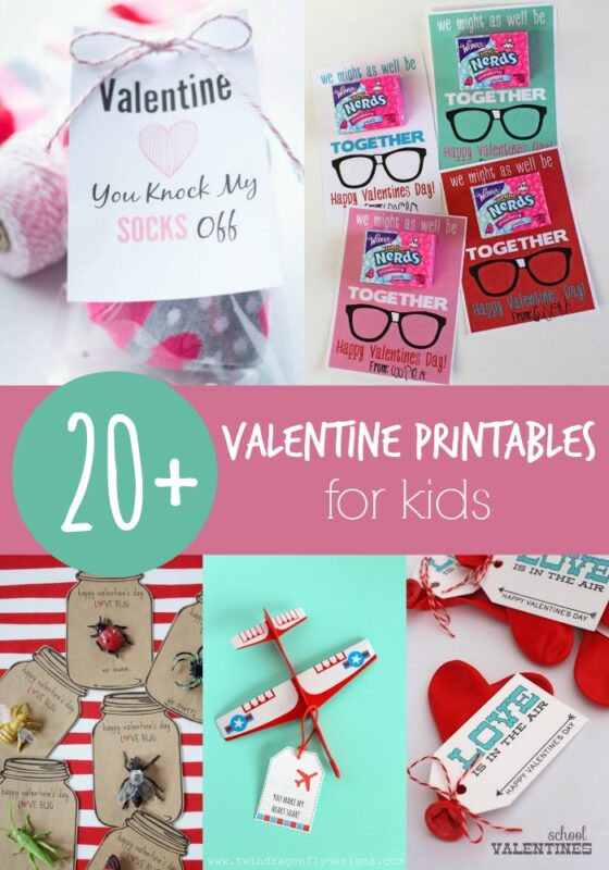 20+ Valentine Printables for Kids