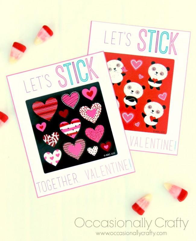 Sticker Valentine Printables 4
