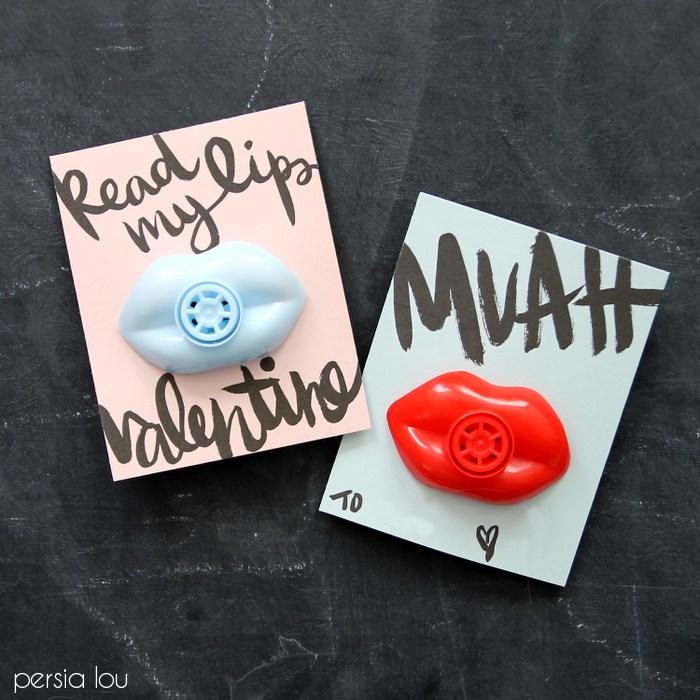 Valentine Lips Printable