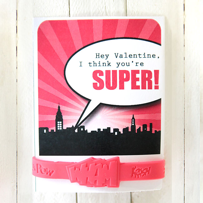 Valentine Superhero Printable