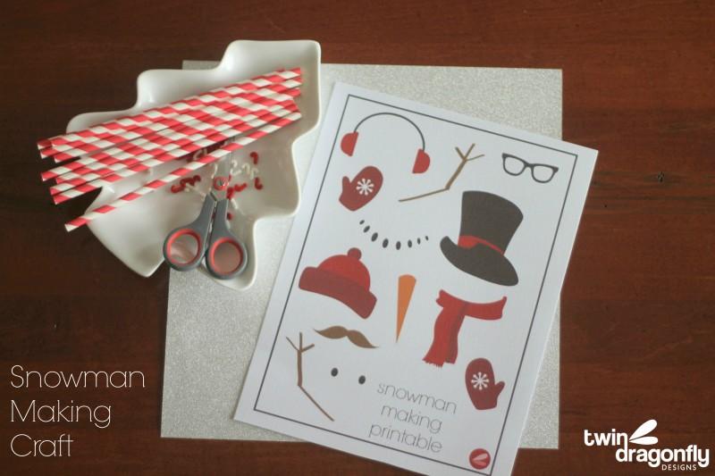 Snowman Making Printable