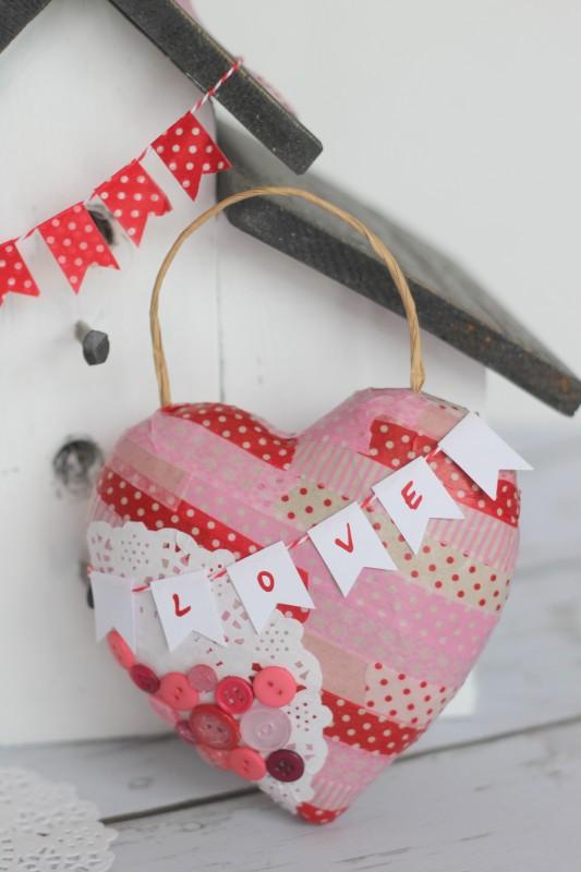 Valentine Paper Mache Heart-025