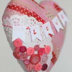 Valentine Paper Mache Heart
