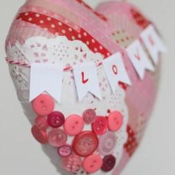 Valentine Paper Mache Heart-028