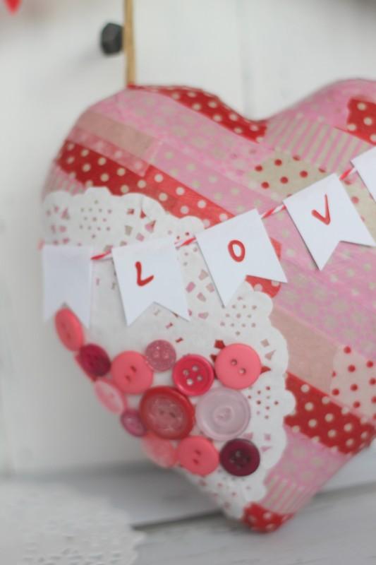 Valentine Paper Mache Heart-036