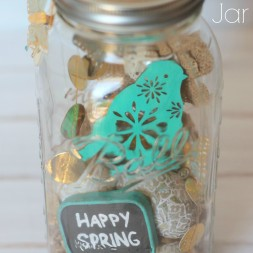 Happy Spring Jar on Crafts Unleashed
