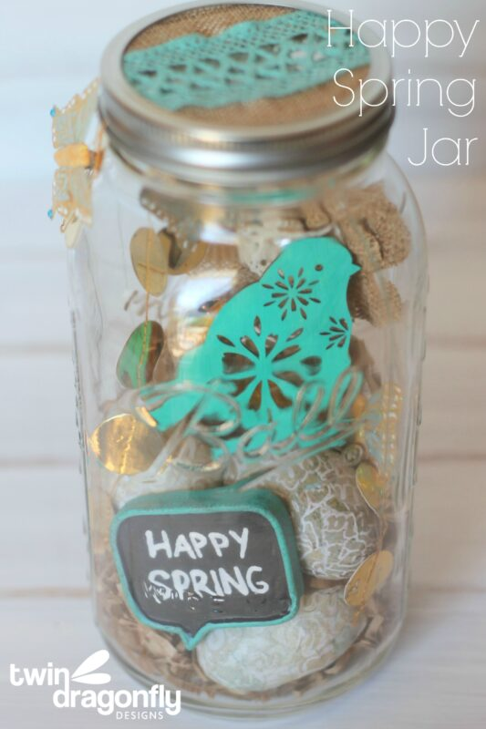 Happy Spring Jar on Crafts Unleashed