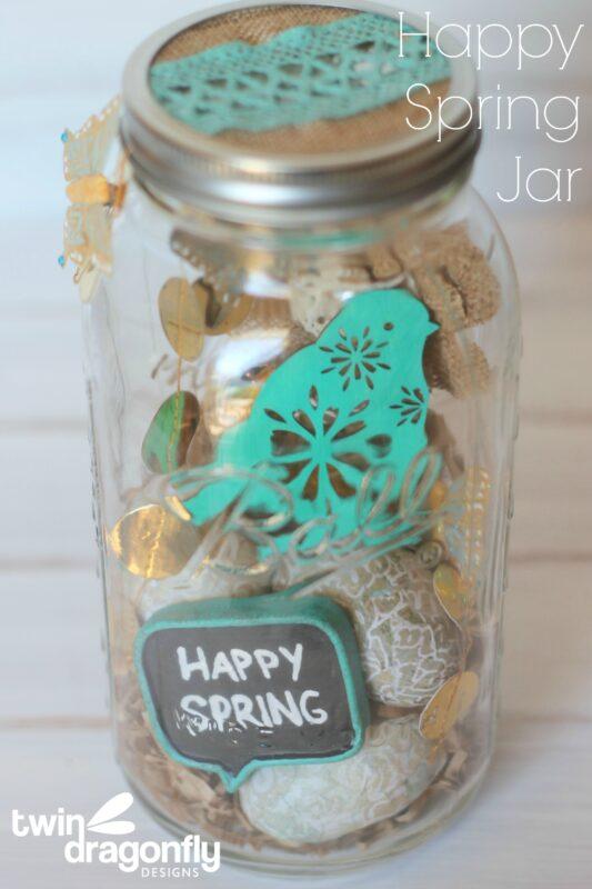 Happy Spring Jar