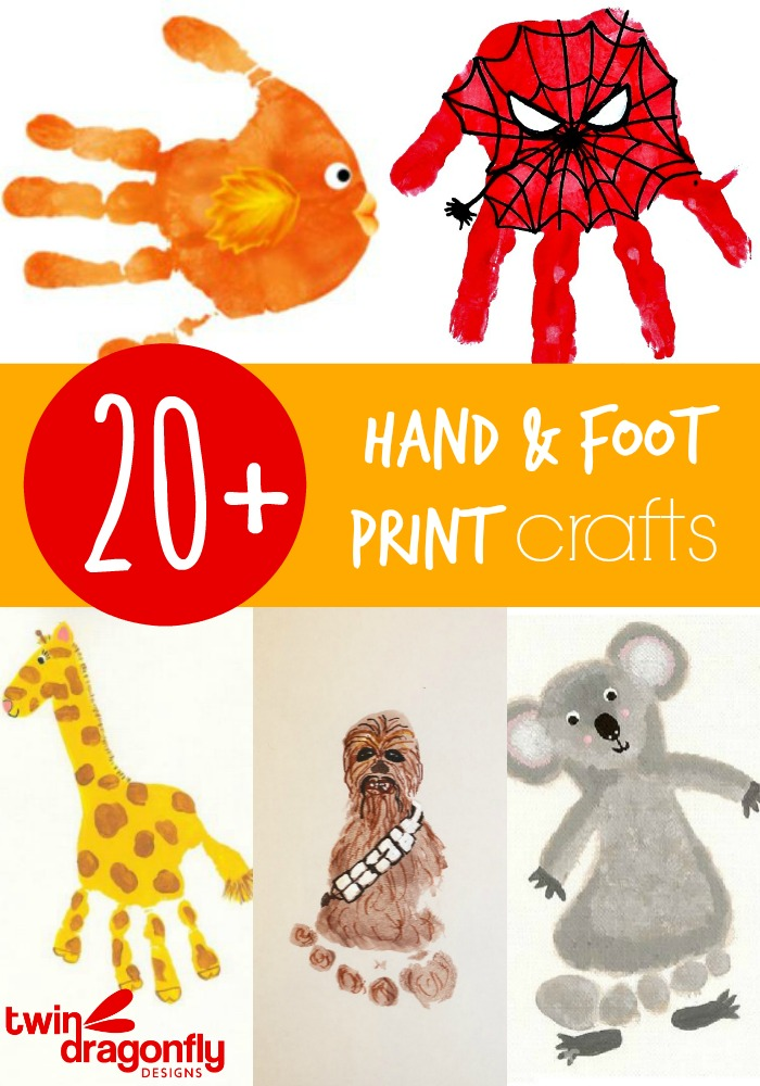 20 hand and footprint crafts dragonfly designs for Hand and feet painting ideas