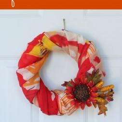 Fall Scarf Wreath Tutorial
