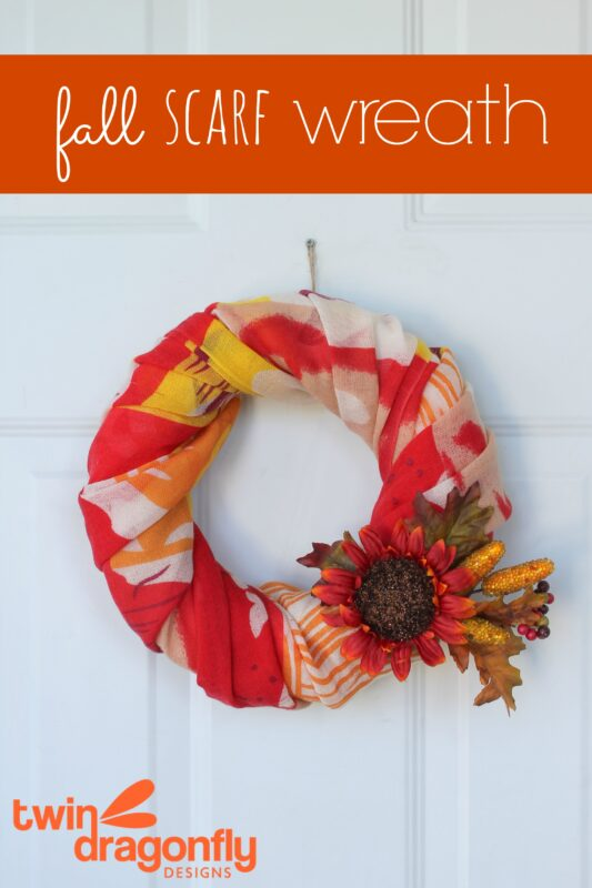 Fall Scarf Wreath Tutorial