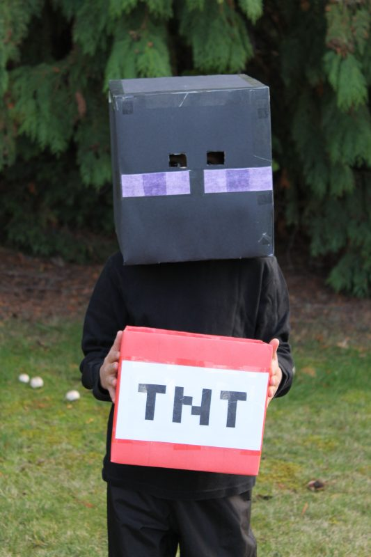 Minecraft Steve and Enderman Costumes