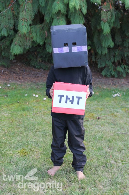 Minecraft Steve And Enderman Costumes Homemade Heather