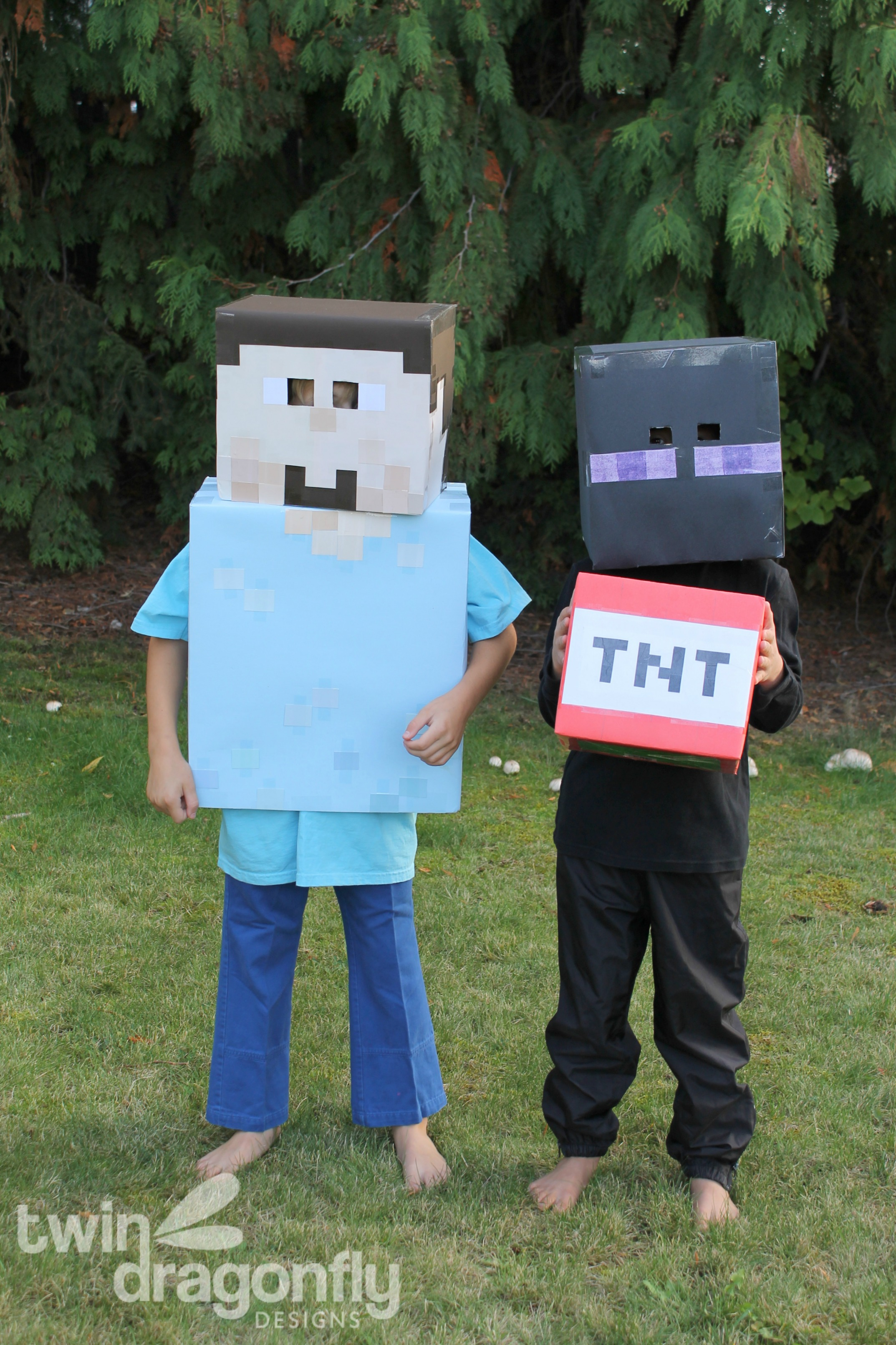 Minecraft Steve and Enderman Costumes & Halloween Archives » Dragonfly Designs