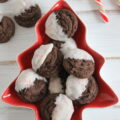 Peppermint Dipped Chocolate Cookies