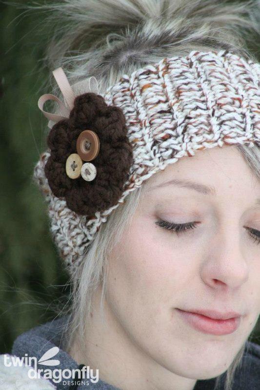 Crochet Headband Detail