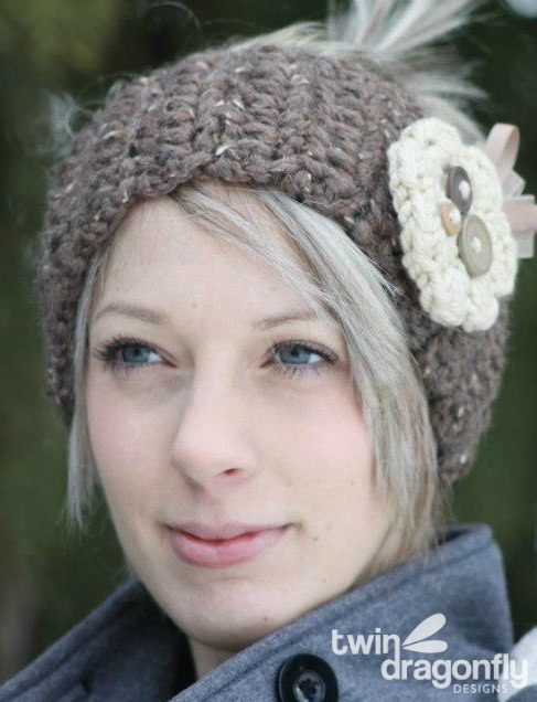 Crochet Headband Pattern Dragonfly Designs