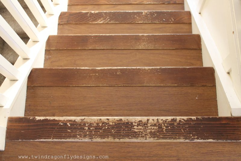 The Nose Pieces On These Laminate Stairs Are Wooden. So They Get Beat Up  Fairly Quickly With Kid Traffic And Moving Things To And Fro.
