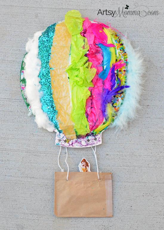 Make-a-Textured-Paper-Plate-Hot-Air-Balloon-Craft