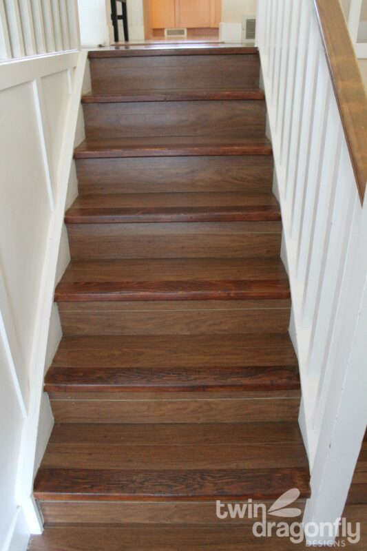 How to refinish wooden stairs » Dragonfly Designs
