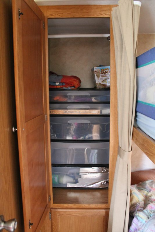 Travel Trailer Organization