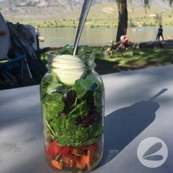Camping Salad in a Jar