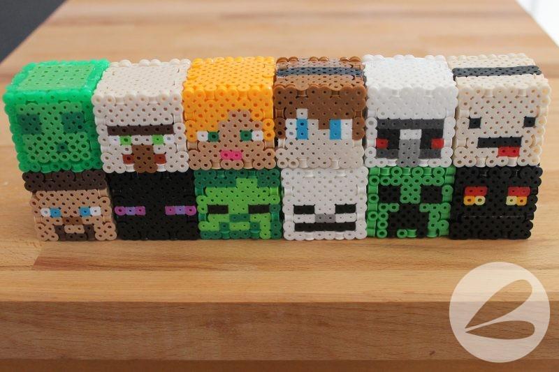 3d Minecraft Perler Bead Design Patterns