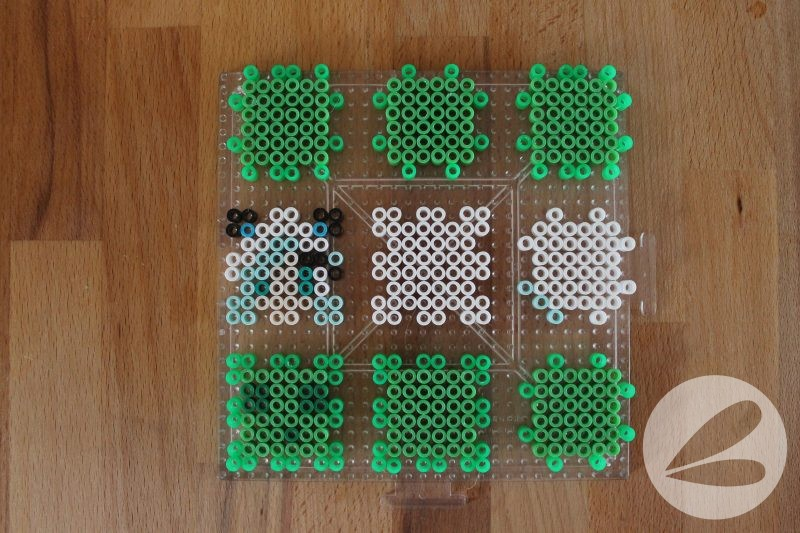 3d minecraft perler bead characters dragonfly designs