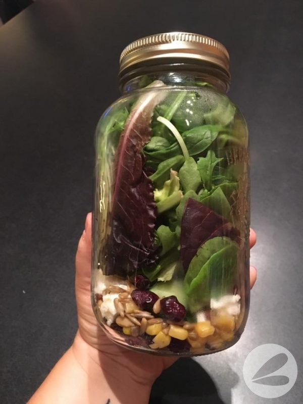 Sweet and Salty Salad in a Jar