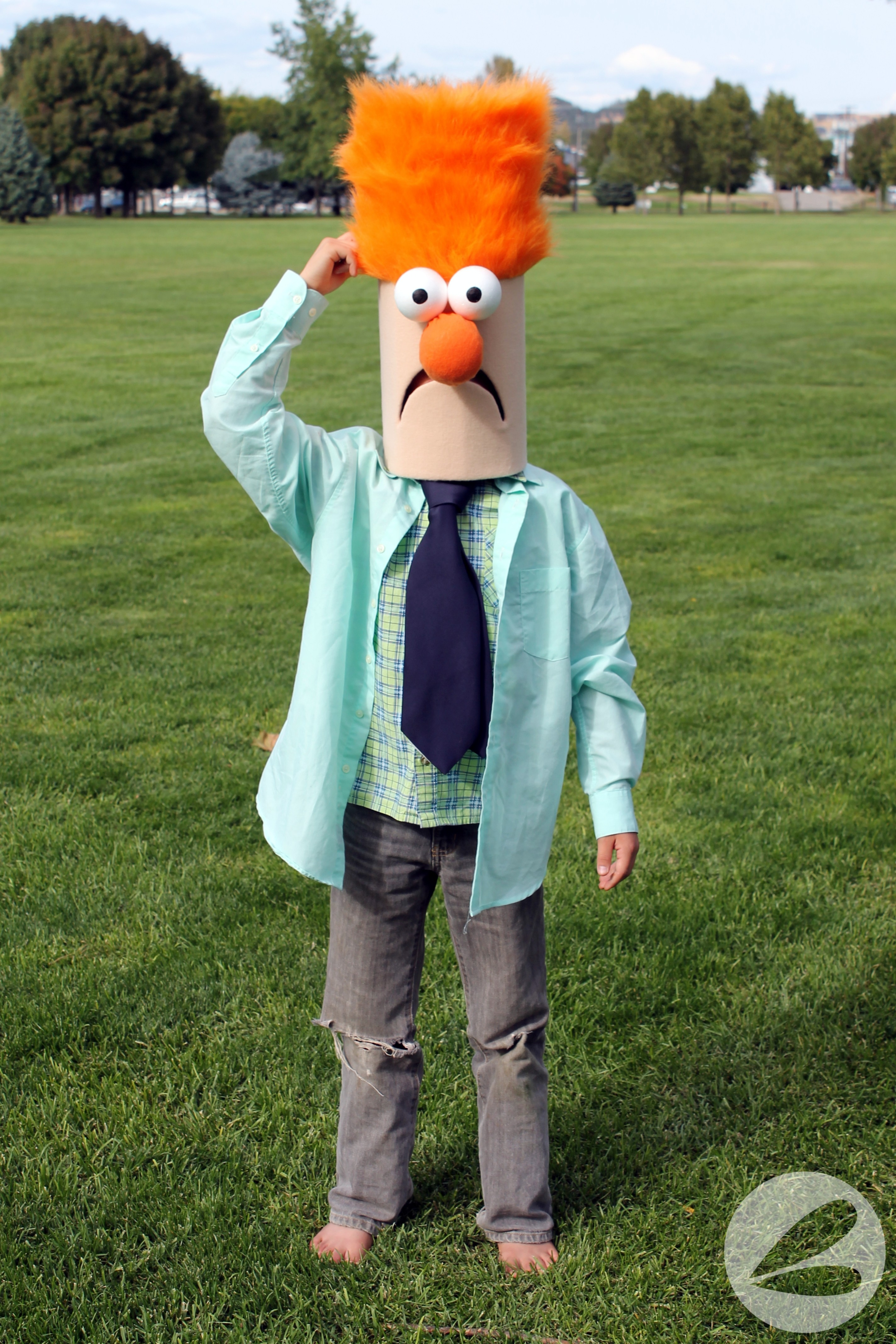 beeker muppet costume tutorial 013 dragonfly designs