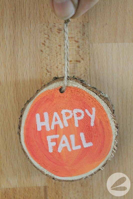 Wooden Pumpkin Ornament
